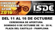 HORARIOS DEL KARTING DURANTE EL FIM ISDE DEL 11 AL 16 DE OCTUBRE